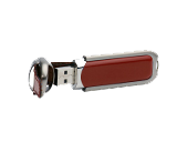 USB-Stick in Lederapplikation